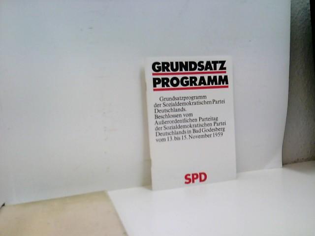 Grundsatzprogramm SPD: o.A. und .: