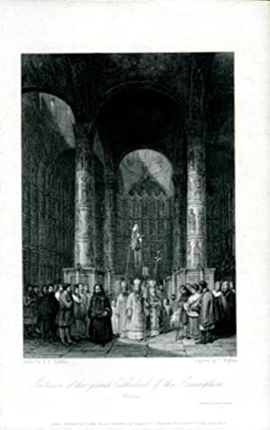 Moskau - Cathedral of the Assumption - Stahlstich Drawn by A. G. Vickers / Engraved by T. Higham