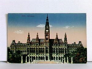 AK Wien, Rathaus; Stempel K.u.K. Militärpflege; Feldpost