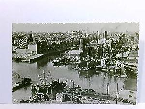 AK Rotterdam, Panorama met Achterhaven; Schiffe; Niederlande;