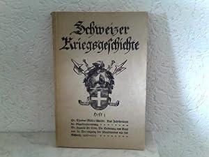 Schweizer Kriegsgeschichte - Heft 5: Feldmann, Oberst M.