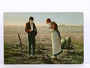 Künstler-AK Millet, L'Angelus; gelaufen 1912