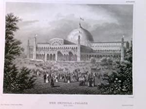 Original Stahlstich / Steel engraved print, Crystal Palace, New York. Crystal Palace (Ausstellung...