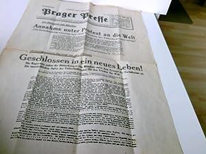 Prager Presse - Original-Flugblatt vom Samstag, 1.: Prager Presse (Hrsg.):