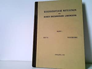 Wissenschaftliche Mitteilungen des Bosnisch-Herzegowinischen Landesmuseums. Band I.: Bosnisch-herzegowinisches Landesmuseum (Hrsg.):