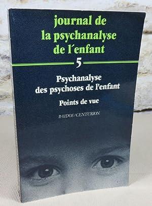 Journal de la psychanalyse de l'enfant 5,: Collectif