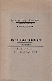 Der Hessische Landbote 1834.: Franz, Eckhart G.