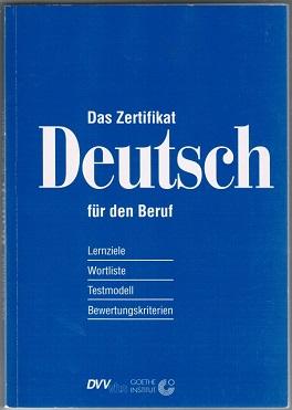 Das Zertifikat Deutsch Zvab