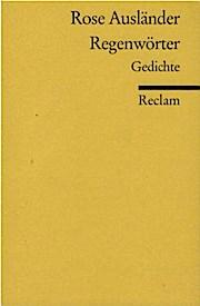 Regenwörter Gedichte Rose Ausländer Hrsg