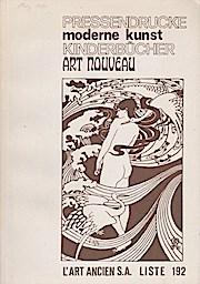 Pressedrucke, moderne Kunst, Kinderbücher, Art Nouveau; Liste: L Art Ancien