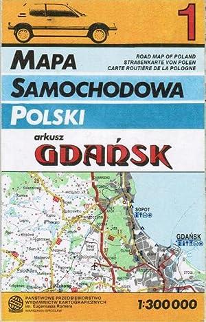 Mapa Samochodowa Polski. Road Map of Poland