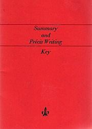 Summary and Précis Writing Key.: Joseph, Bongartz Cornelius