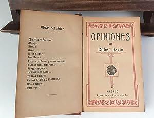 OPINIONES POR RUBÉN DARÍO. LIBRERÍA DE FERNANDO: RUBÉN DARÍO