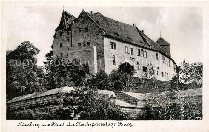 Postkarte Carte Postale Nürnberg Burg Stadt der Reichsparteitage Bromsilber Imitation