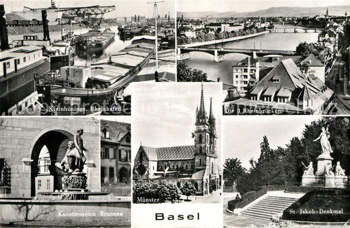 Heimatgeschichte Deutschland Sinnvoll Ansichtskarte Schweiz Basel Münster Gebrauchsspuren