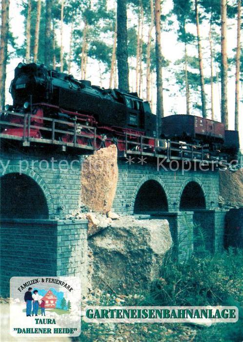 Postkarte Carte Postale Lokomotive Taura Wood Railroad Company Dahlener Heide