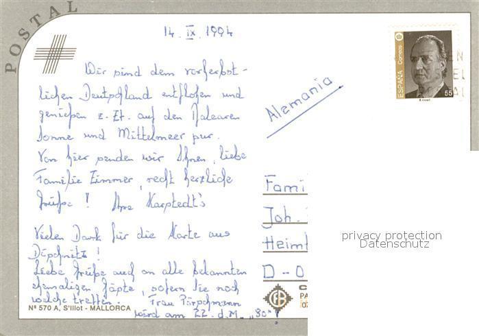 S Illot Mallorca Karte.Postkarte Carte Postale S Illot Llevant