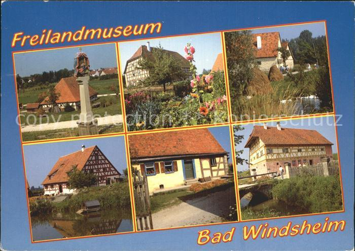 Postkarte Carte Postale Bad Windsheim Freilandmuseum Teilansichten