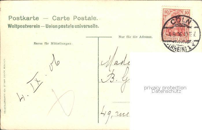 Postkarte 1925 Sektkellerei Henkell & Co Henkellsfeld Wiesbaden-biebrich