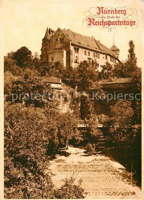 Postkarte Carte Postale Nürnberg Burg Kaiser Friedrich Barbarossa Die Stadt der Reichsparteitag