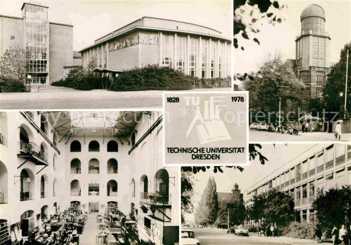 Postkarte Carte Postale Dresden Technische Universität Gebäude