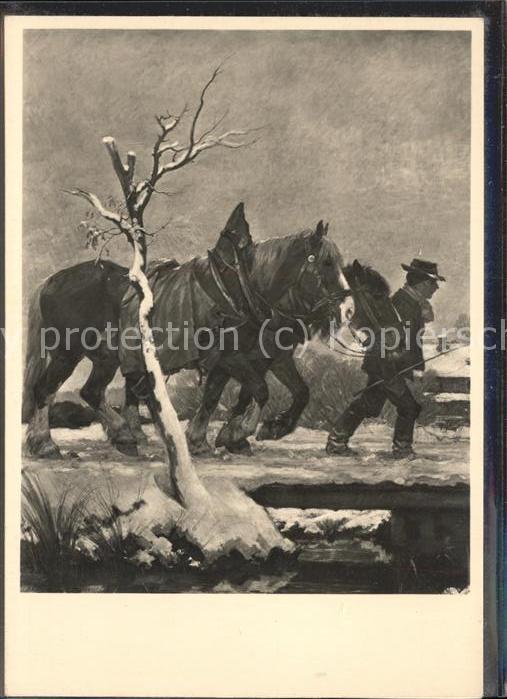 Postkarte Carte Postale Künstlerkarte Franz Xaver Stahl Heimkehr