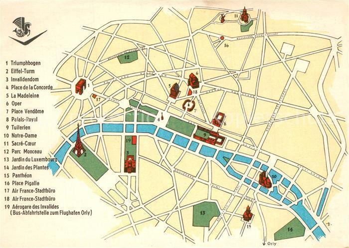 Karte Paris Stadtplan.Paris Stadtplan Zvab