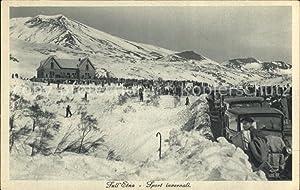 Postkarte Carte Postale Etna Italien Sport invernali