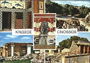 Postkarte Carte Postale Cnossos Kreta Tempel Ruine