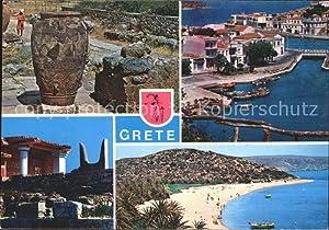 Postkarte Carte Postale Crete Kreta Tempel Ruine