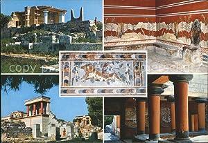 Postkarte Carte Postale Cnossos Kreta Tempel Ruinen