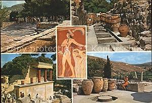 Postkarte Carte Postale Knossos Cnosse Kreta Tempel