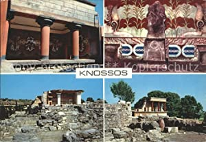 Postkarte Carte Postale Knossos Cnosse Kreta Palast