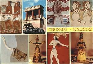 Postkarte Carte Postale Cnossos Kreta Palast Antike