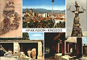 Postkarte Carte Postale Knossos Cnosse Kreta Teilansicht