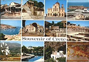 Postkarte Carte Postale Crete Kreta Teilansichten antike