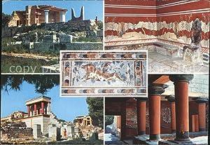 Postkarte Carte Postale Cnossos Kreta Palast Ruine