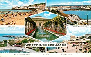 Postkarte Carte Postale Weston-super-Mare North Somerset Beach
