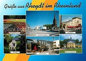 Postkarte Carte Postale Rheydt Marienplatz Schmölderpark Schloß