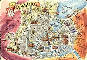 Hamburg Stadtplan Sehenswurdigkeiten Zvab