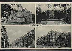 Riesa,Stadtwappen,Mini Union Autogramm-Ansichtskarte