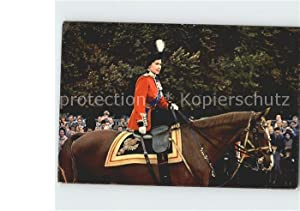 Postkarte Carte Postale 12221098 Adel England Queen Elizabeth II. Ceremony Trooping the Colour Ho...