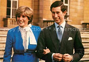 Postkarte Carte Postale 72869762 Adel England Marriage Prince of Wales Lady Diana Spencer Koenigs...