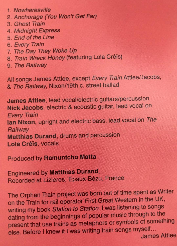 Orphan Train: CD