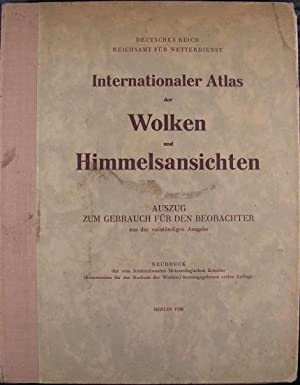 Internationaler Atlas der Wolken und Himmelsansichten: Internationales Meteorologisches Komitee
