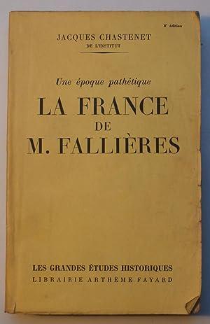 La France de M. Fallières - Une: Jacques Chastenet