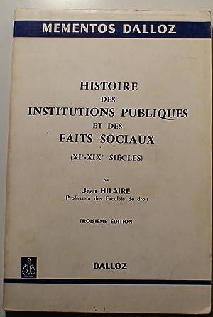 Histoire des institutions publiques et des faits: Jean Hilaire