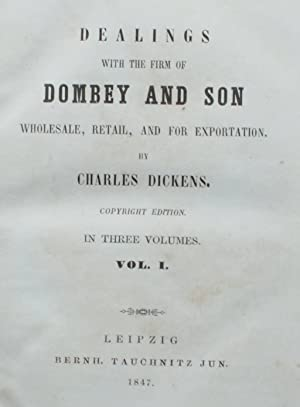Dealings with the firm of Dombey and son, wholesale, retail, and for exportation