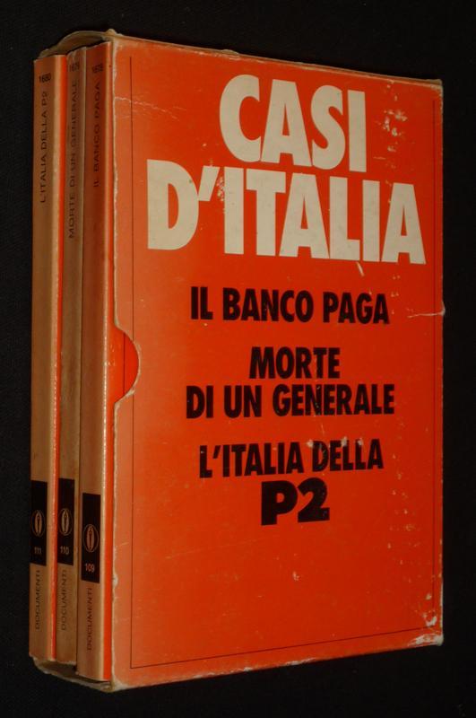 Casi D Italia Il Banco Paga Morte Di Un Generale L Italia Della P2 By Sisti Leo Modolo Gianfranco Rognoni Carlos Inconnu 1983 Abraxas Libris