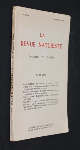 La revue naturiste 21e année, 1er trimestre: Collectif